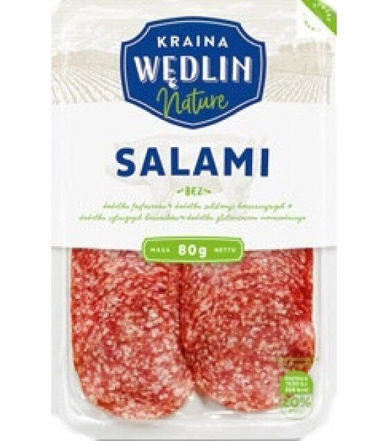 KRAINA WEDLIN Salami Beef and Pork Sliced - 80g (exp. 05.07.19)