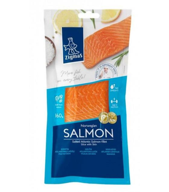 ZIGMAS Norwegian Salted Salmon Fillet Pieces - 160g (best before 21.06.21)