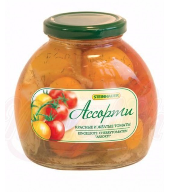 "STEINHAUER Pickled Mixed Red and Yellow Tomatoes ""Assorti"" - 530g (best before 12.09.21)"