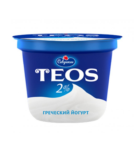 "SAVUSHKIN Greek Yoghurt ""TEOS"" 2% fat - 250g (best before 09.10.20)"