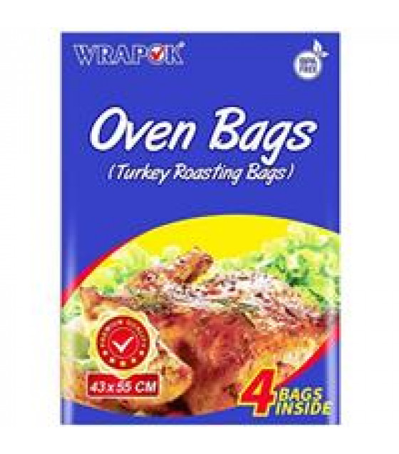 WRAPOK Turkey Roasting Oven Bags (43x55cm) - 4 Bags