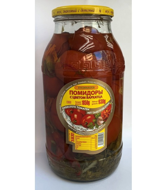 STEINHAUER Pickled Red Tomatoes with Marigold Flowers - 1,8kg (exp. 01.11.20)