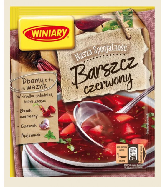 """WINIARY Red Beetroot Soup """"Borsh""""  - 49g (best before 30.12.20)"""