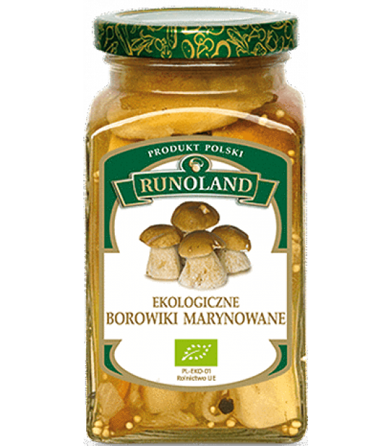 RUNOLAND ORGANIC Cepes Pickled Wild Mushrooms - 300g/180g (exp. 01.03.21)