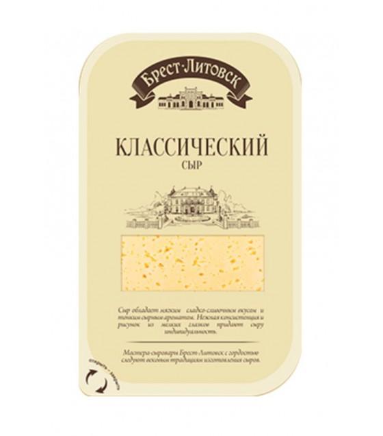 "SAVUSHKIN  Cheese semi-hard ""Brest-Litovsk klassicheskiy"" 45% fat (sliced) - 150g (best before 31.08.21)"