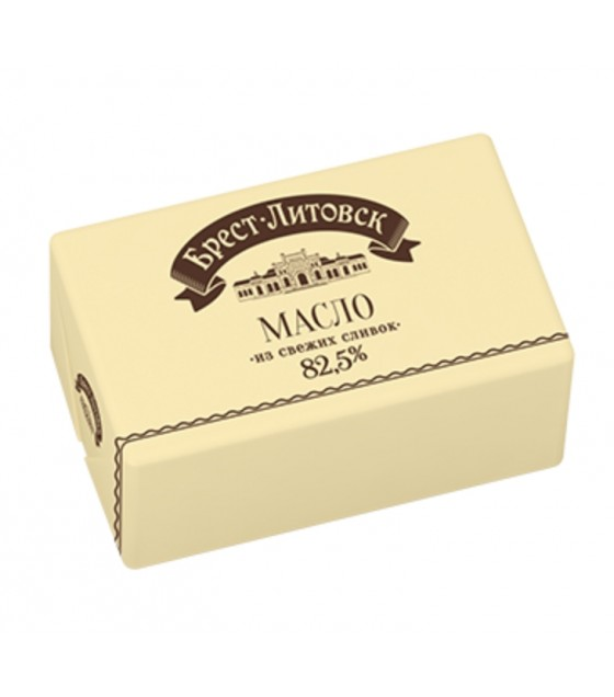 "SAVUSHKIN  Sweet cultured cream butter non-salted ""Brest-Litovsk"" 82,5% fat - 180g (best before 25.12.20)"
