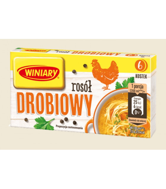 """WINIARY Bouillon Cubes With Vegetables """"Rosol Warzywny"""" (6 cubes x 10g) - 60g (best before 30.04.21)"""