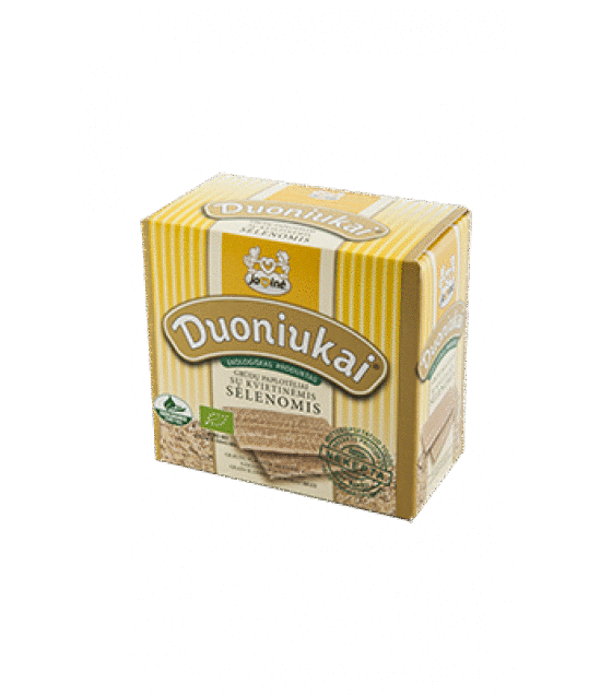 "JAVINE ECO Grain scones ""Duoniukai"" ® with wheat bran ""Selenomis"" - 80g (exp. 22.08.19)"