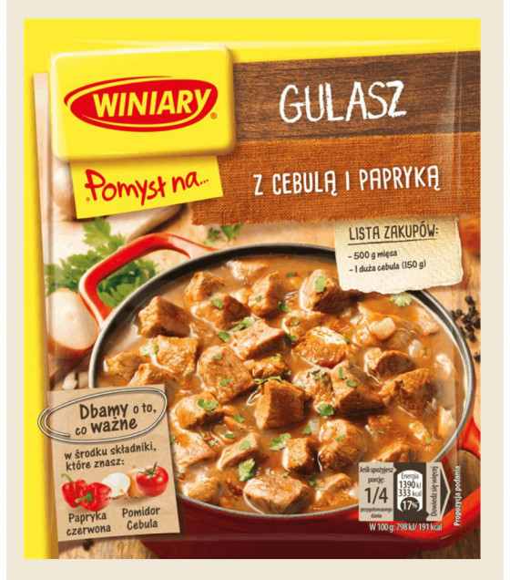WINIARY Mix for Cooking Goulash with Onion and Red Bell Pepper - 47g (best before 30.05.21)