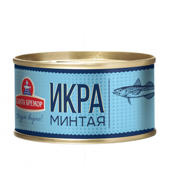 SANTA BREMOR Atlantic Pollock Caviar (Mintay) - 130g (best before 14.03.21)