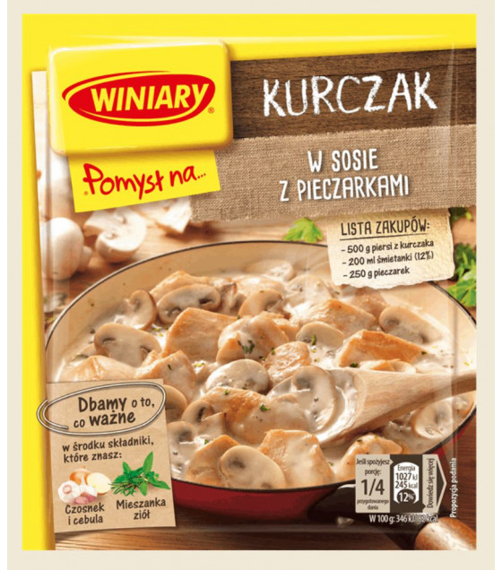 WINIARY Mix for Cooking Chicken with Champignons Mushrooms - 32g (best before 30.01.21)