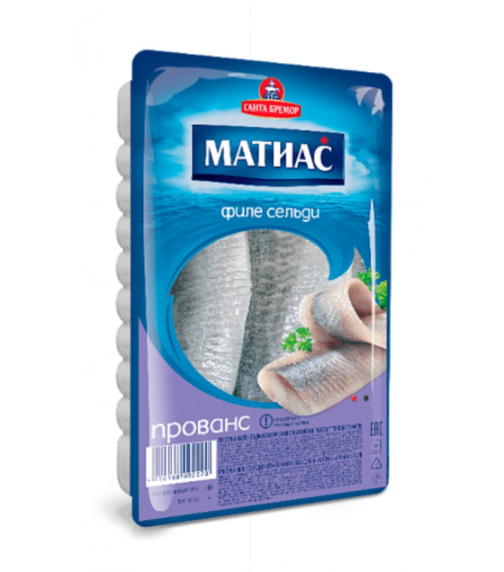 "SANTA BREMOR Slightly Salted Atlantic Herring Fillet ""MATIAS"" ""Provence"" in oil - 250g (best before 13.01.21)"