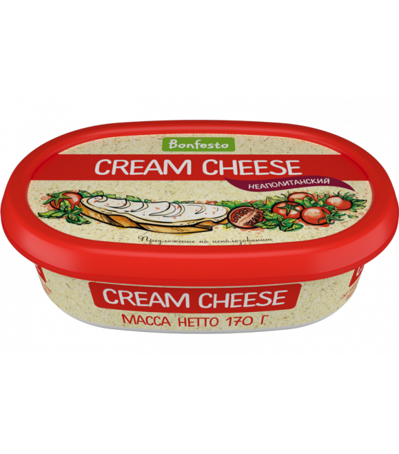 "BONFESTO Soft Cheese ""Cream Cheese"" ""Neapoletanian"" with 70% fat - 170g (before before 16.04.21)"