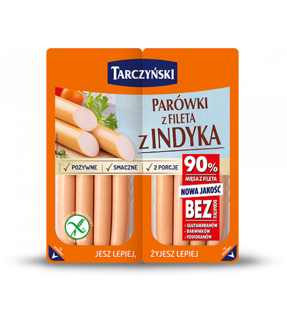 TARCZYNSKI Turkey Fillet Frankfurters (Parowki z Fileta z Indyka) - 180g (2x90g) (best before 29.08.20)