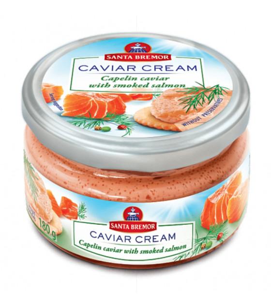 """SANTA BREMOR Delicacy Capelin Caviar Cream """"With Smoked Salmon"""" - 180g (best before 04.12.20)"""