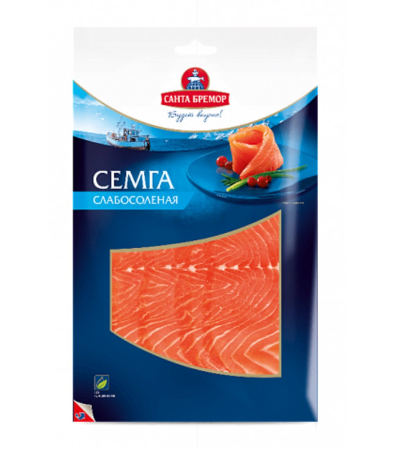SANTA BREMOR Slightly Salted Salmon Fillet-Slices (Semga) - 100g (best before 21.11.20)