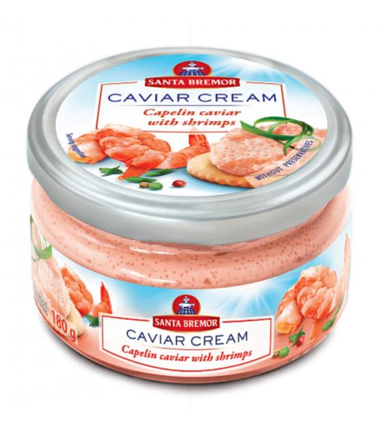 "SANTA BREMOR Delicacy Capelin Caviar Cream ""With Shrimps"" - 180g (best before 02.12.20)"