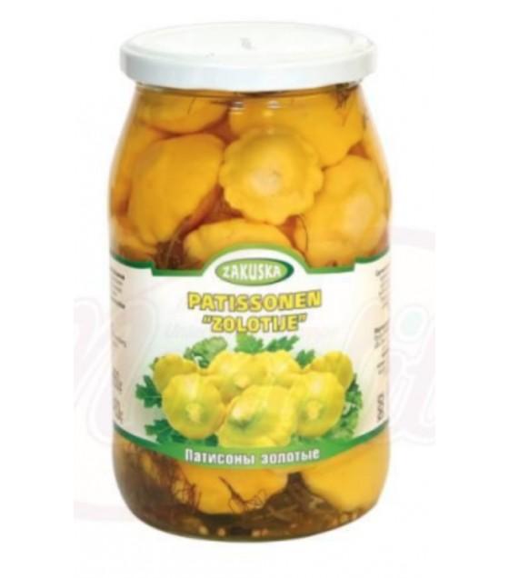 "STEINHAUER ZAKUSKA Pickled Pattypans ""Zolotye"" - 860g (exp. 12.12.21)"