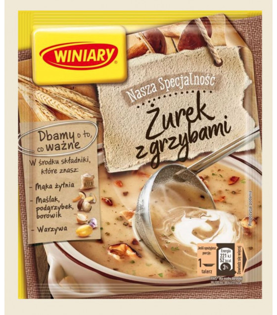 """WINIARY """"Zyrek"""" Soup with Mushrooms  - 49g (best before 30.01.21)"""