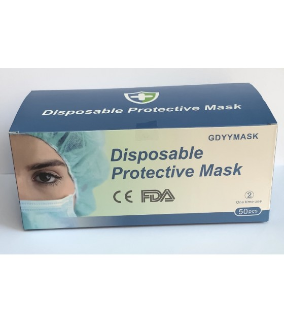Disposable Protective Face Masks 3-PLY (50 pcs)