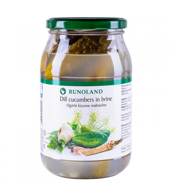 RUNOLAND Dill Cucumbers in brine (without vinegar) - 820g/460g (exp. 10.07.21)