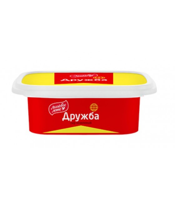 "SAVUSHKIN  Processed cheese pasty ""Druzhba"" 55% fat (plastic cup) - 170g (exp. 30.06.20)"