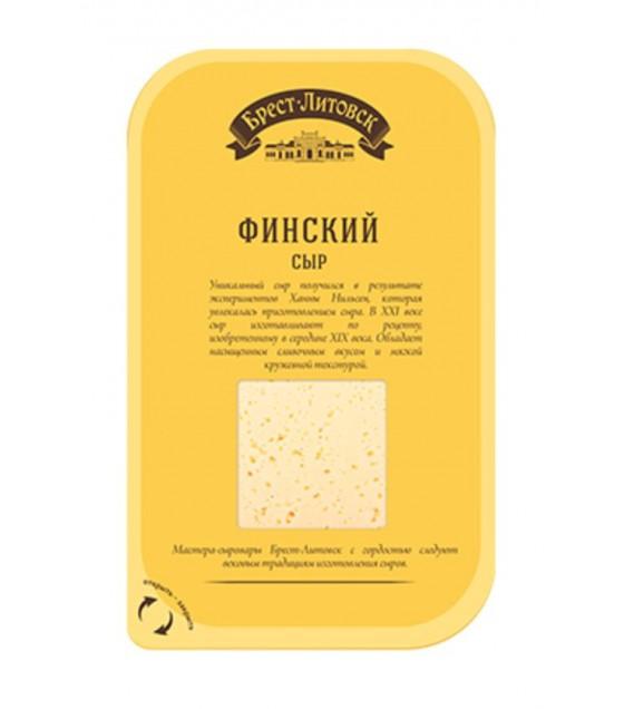 """SAVUSHKIN  Cheese semi-hard """"Brest-Litovsk finskiy"""" 45% (sliced) - 150g (best before 24.12.20)"""