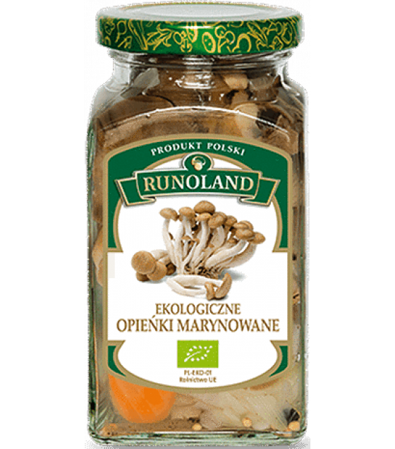 RUNOLAND ORGANIC Honey Pickled Wild Mushrooms - 300g/180g (exp. 01.06.21)