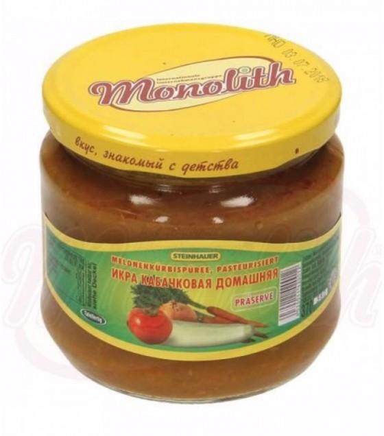 """STEINHAUER Zucchini Spread Paste """"Domashnaya"""" - 380g (exp. 07.12.20)"""