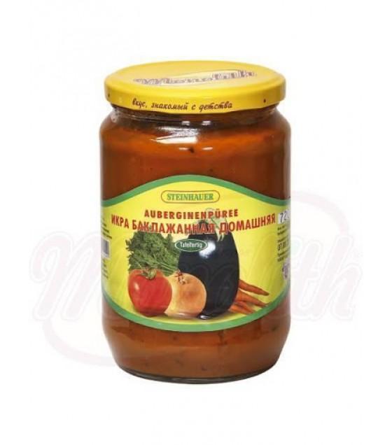 """STEINHAUER Eggplant Spread Paste """"Domashnaya"""" Spicy - 720g (best before 13.08.22)"""
