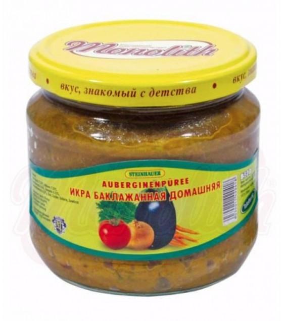 """STEINHAUER Eggplant Spread Paste """"Domashnaya"""" - 380g (exp. 05.08.22)"""