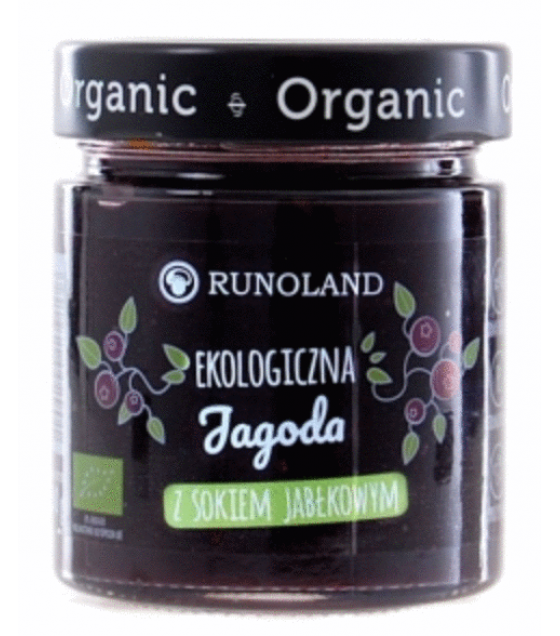RUNOLAND ORGANIC Blueberry Jam with Apple Juice - 200g (exp. 10.05.20)