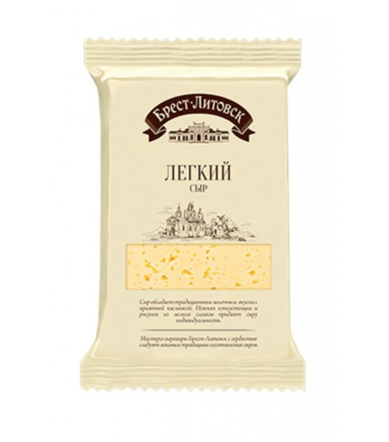 "SAVUSHKIN  Cheese semi-hard ""Brest-Litovsk lyogkiy"" 35 % fat (pieces) - 200g (best before 23.04.21)"