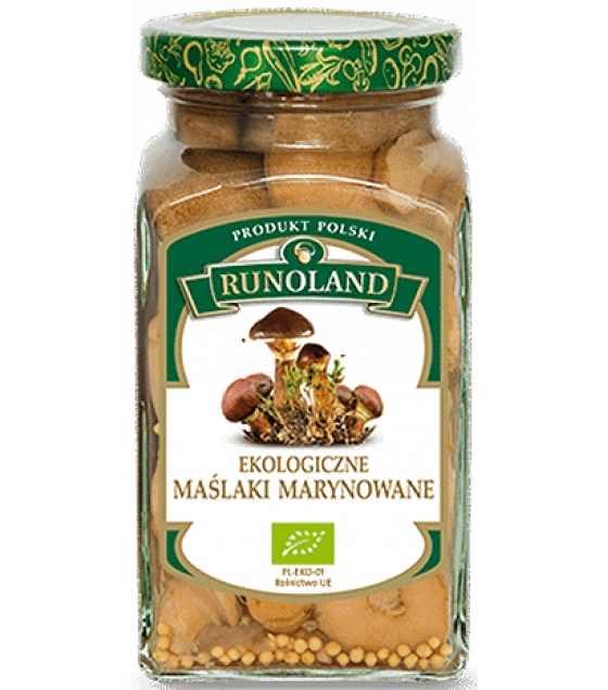 RUNOLAND ORGANIC Slippery Jack Pickled Wild Mushrooms - 300g/180g (exp. 01.03.21)