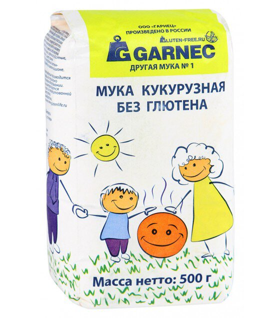"Corn Flour ""Garnec"" No Gluten - 500g (exp. 12.07.19)"