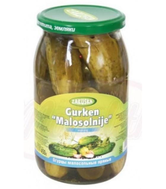 """STEINHAUER ZAKUSKA Pickled Cucumbers Spicy """"Malosolnije"""" - 850g (exp. 20.08.21)"""