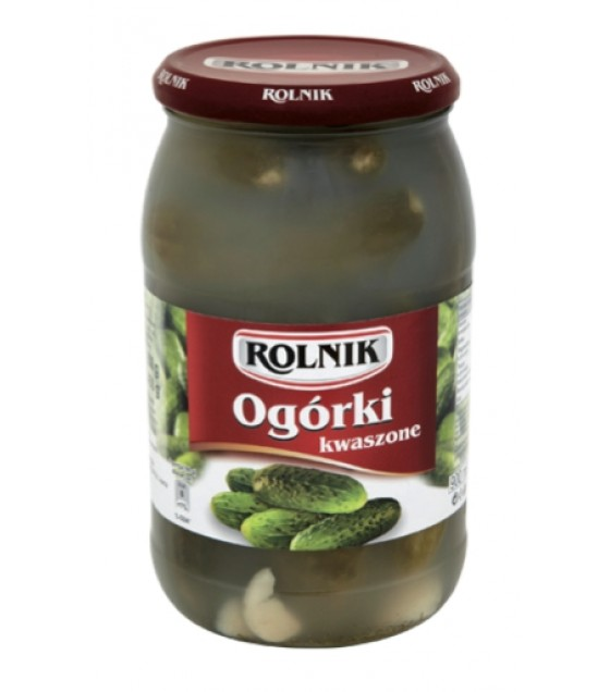 ROLNIK Sour Cucumbers (Kwaszone) - 900g (best before 29.01.22)