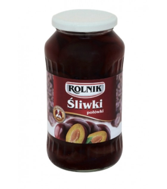 ROLNIK Plum Halves - 720g (best before 04.09.21)