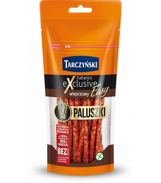 TARCZYNSKI EASY STICKS Kabanos Exclusive Pork smoked sausages - 95g (exp. 29.04.20)