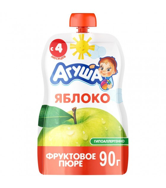 "Fruit puree ""Agusha"" Apple (from 6-months) - 90g (exp. 22.07.19)"