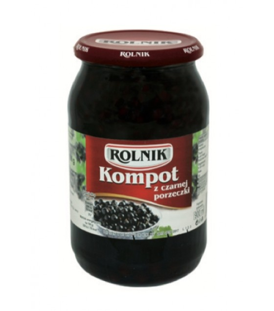 ROLNIK Blackcurrant Compote Fruit Drink - 900g (exp. 01.02.22)