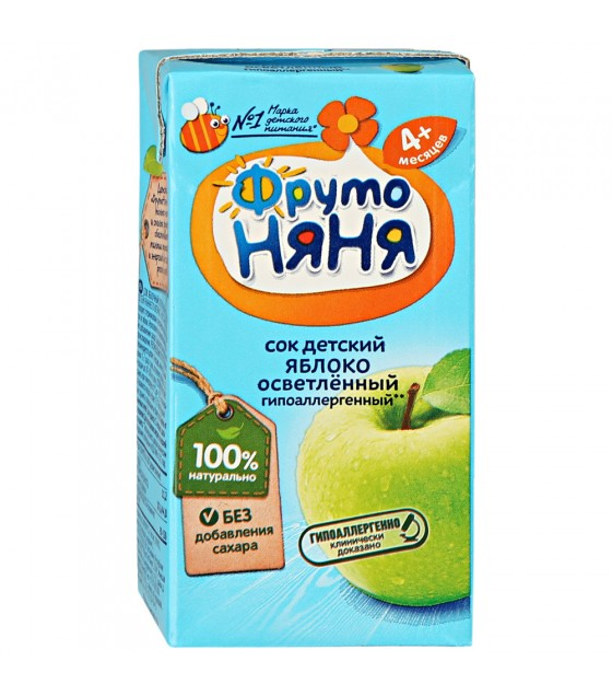 FRUTO-NANYA Juice Apple Clarified (from 4-months) - 200g (best before 26.04.22)