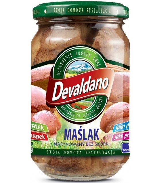 DEVALDANO Pickled Slippery Jack Mushrooms (MASLYAK)- 280g (exp. 01.09.21)