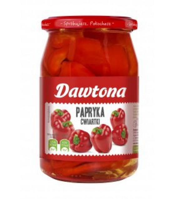 DAWTONA Pickled Pepper Quarters (Papryka Konserwowa) - 500g (best before 02.10.23)