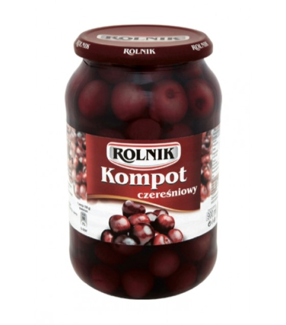 ROLNIK Sweet Cherry Compote Fruite Drink - 900g (exp. 31.12.23)