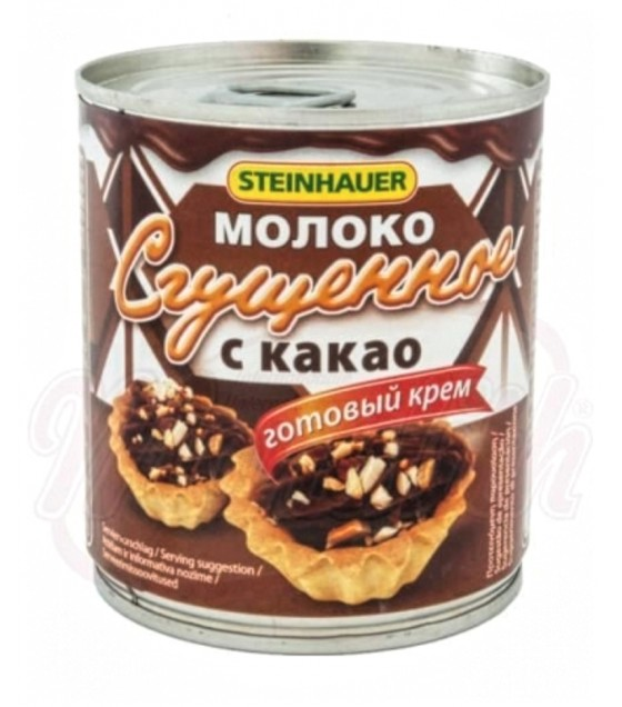 STEINHAUER Condensed Milk Sweetened with Cocoa - 397g (exp. 31.05.21)