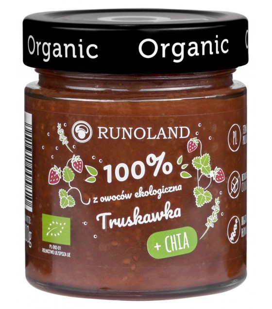 RUNOLAND ORGANIC Strawberry Jam with CHIA - 200g (exp. 10.04.20)