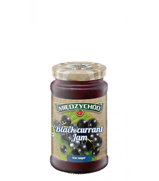 MIEDZYCHOD Blackcurrant Jam Low Sugar - 245g (exp. 07.12.20)