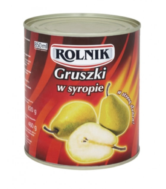 ROLNIK Pears in Syrup - 820g (exp. 21.11.21)