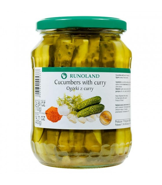 RUNOLAND Cucumbers with Curry - 700g/400g (exp. 10.07.21)